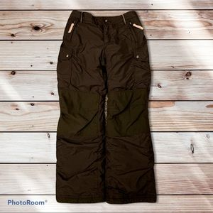 Girls' Lands' End Brown Snowpants